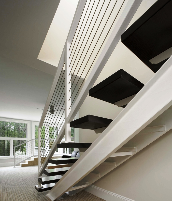 Contemporary Cable Stair Railing