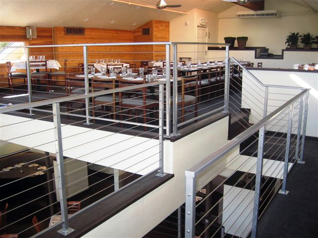 Interior Iron Rail with Stainless Steel Cable Railing