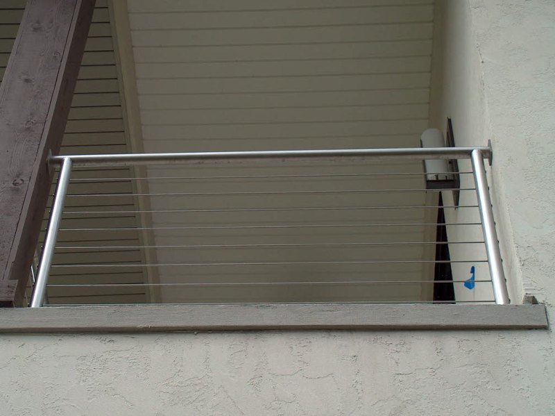 Stainless Steel Pipe Rail with Stainless Steel Cable